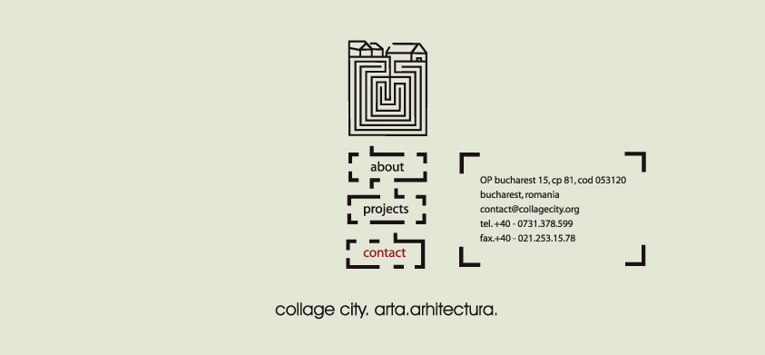 Collage city. Arta arhitectura. Contact