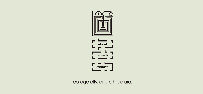 Collage city. Arta arhitectura. Home